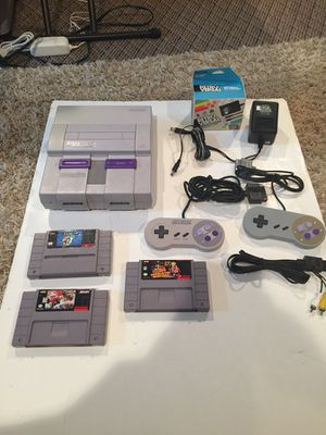 Super Nintendo with 3 Games, 2 Controllers, and all Hookups for Sale in Grove City, OH