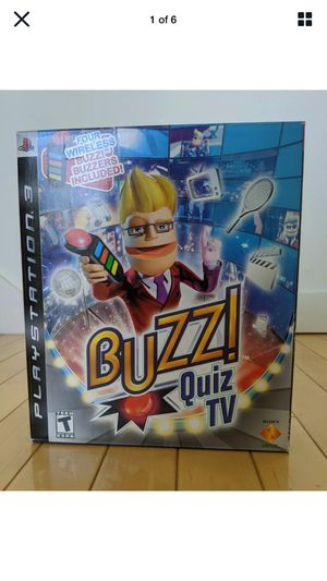 NEW SEALED Buzz! Quiz TV PlayStation 3-PS3 4 wireless buzzers included for Sale in Jersey City, NJ