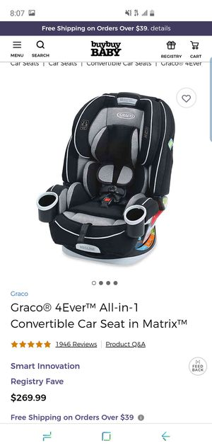 Graco forever 4 car seat for Sale in Huntington Beach, CA