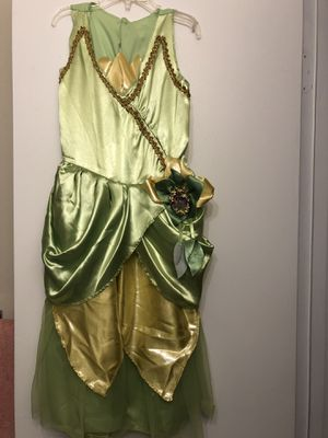 Princess Tiana Costume with gloves and crown for Sale in Washington, DC