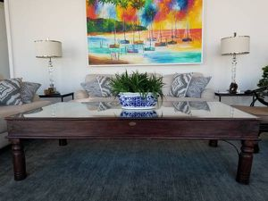 Indian door coffee table - beautiful and unique for Sale in Tampa, FL