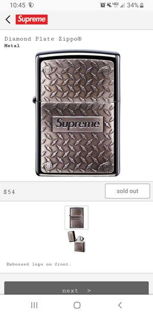 Supreme Diamond Plate Zippo for Sale in Modesto, CA
