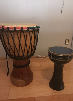 Set of two hand drums for Sale in St. Louis, MO