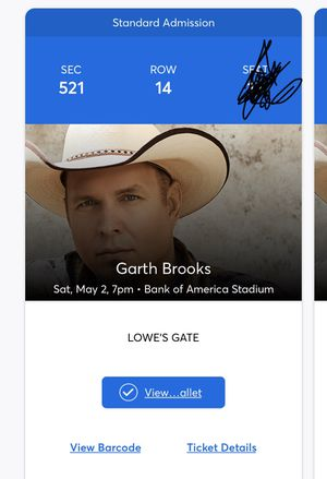 Garth Brooks tickets for Sale in Greenville, SC