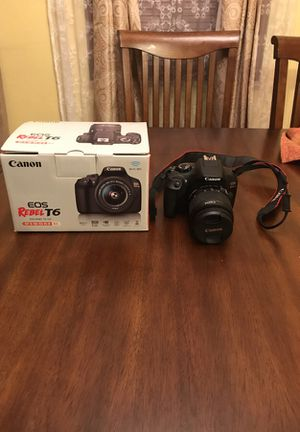 Canon EOS Rebel T6 for Sale in St. Louis, MO