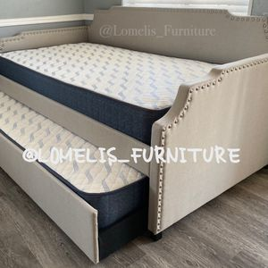 Twin/twin size trundle beds with MATTRESS included for Sale in Monrovia, CA