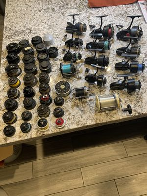 Vintage fishing reels and spools for Sale in Modesto, CA