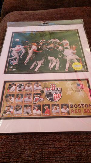 Red Sox world champs matted photo for Sale in Bangor, ME