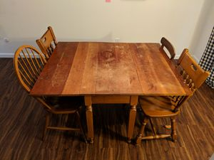 Antique Table & 4 Mismatched Chairs for Sale in Portland, OR
