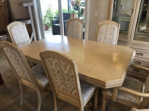 Dining Set, 6 Chairs, China Hutch for Sale in Plantation, FL