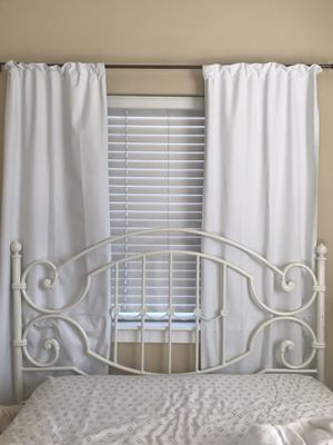 White iron bed frame! for Sale in Missoula, MT