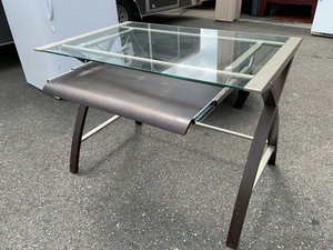 Metal and Glass Desk - Delivery Available for Sale in Tacoma, WA