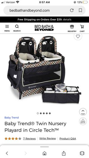 Baby Trend Twin Pack and Play for Sale in Peoria, AZ