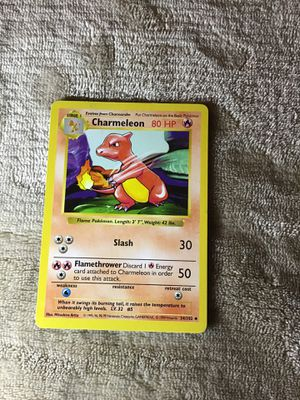 Pokemon , Shadowless Charmeleon. for Sale in San Marcos, CA