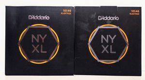 2 Packs D'Addario NYXL10-46 Nickel Wound Electric Guitar Strings Regular Light for Sale in Garland, TX