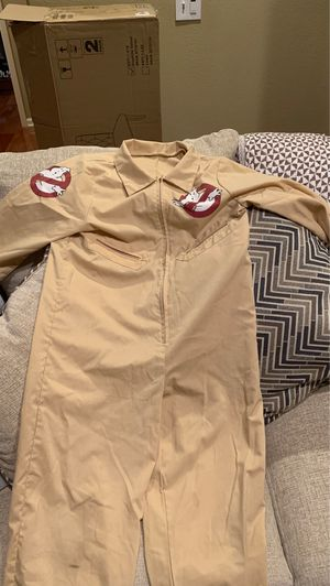 Ghostbuster Jumpsuit Kids Halloween Costume Size M 8-10 for Sale in Upland, CA