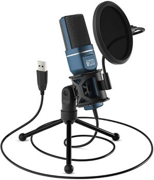 Computer Condenser PC Mic with Tripod Stand & Pop Filter for Streaming USB Gaming Microphone for Sale in Arlington, TX