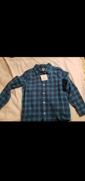 Janie and Jack 100% cotton toddler size 4 buttoned warm shirt blue for Sale in Falls Church, VA