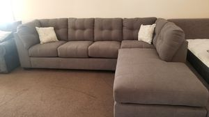 Ashley name brand sectional new. Grey. $0 down available for Sale in Fontana, CA