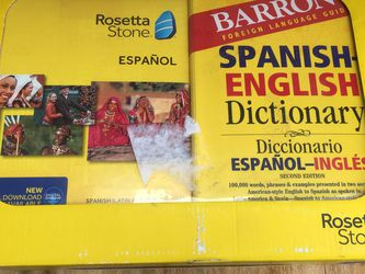 Learn Spanish: Rosetta Stone Spanish (Latin America) - Level 1-5 Set With Dictionary for Sale in City of Industry,  CA