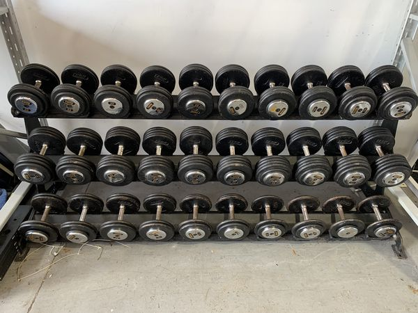 5-100 lb Troy Commercial Dumbbell Set