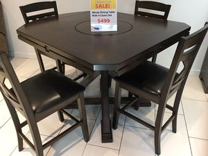 BEAUTIFUL MINDY DINING TABLE E 4 CHAIRS. SUPER SUMMER SALE EVENT BLOWOUT!!! SAME DAY DELIVERY! NO CREDIT CHECK FINANCING WITH ONLY $40 DOWN! for Sale in St. Petersburg, FL