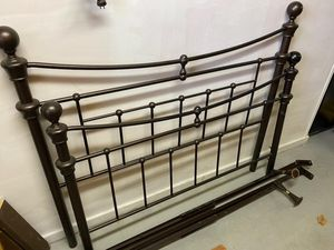 Full Size Metal Bed Frame with head and footboard for Sale in North Haledon, NJ