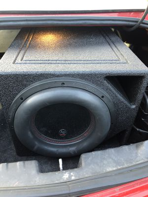 One 12inch audio pipe subwoofers with custom boss box , 1500watts amp for Sale in Columbus, OH
