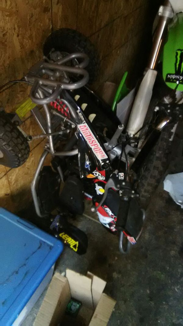 P&N 2 stroke racing atv! & 2005 Honda crf50f rear brake lever