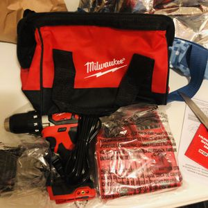 Milwaukee hammer drill with charger bag and #3 battery new for Sale in Yonkers, NY