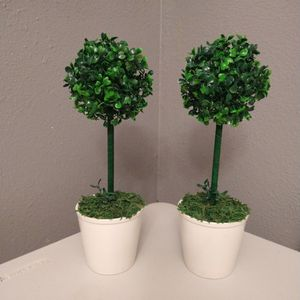 14 Inches Tall...Each $10.. Artificial Topiary Trees for Sale in Houston, TX
