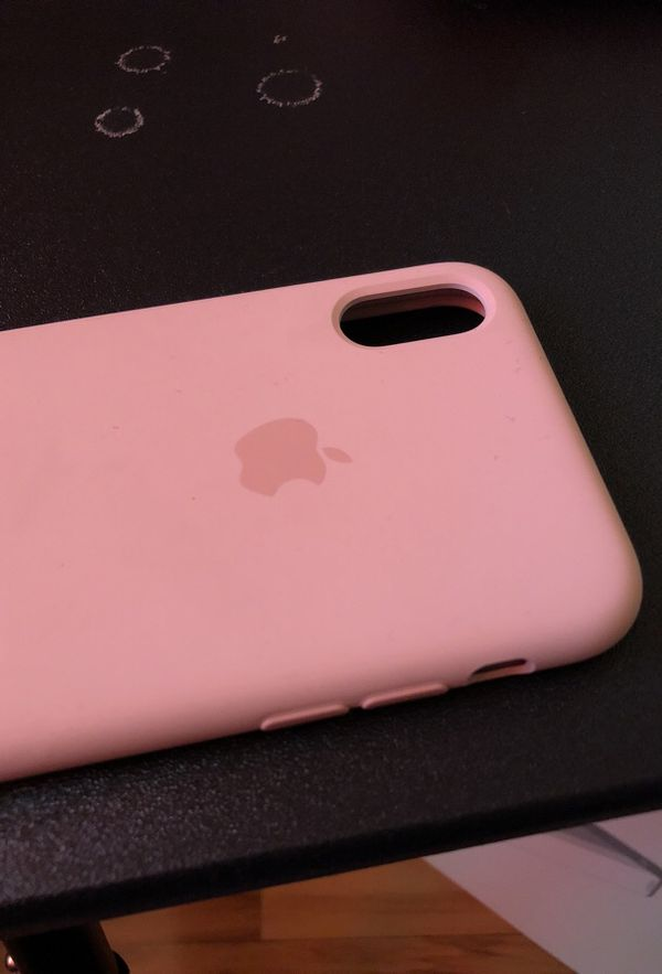 reputable site cd6f1 2f280 Apple Pink iPhone X silicone case for Sale in San Jose, CA - OfferUp