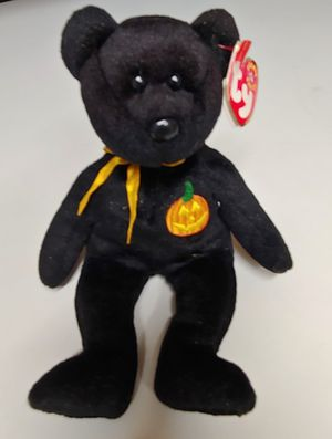 Halloween Pumpkin Beanie baby bear for Sale in Costa Mesa, CA