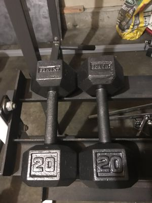 20lb pair of Champ dumbbells excellent condition. $20 for Sale in Grayslake, IL