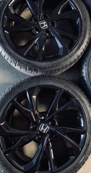 "Black Honda Civic Si Sport Touring Wheels Rims Tires Rines 18"" for Sale in Gardena, CA"