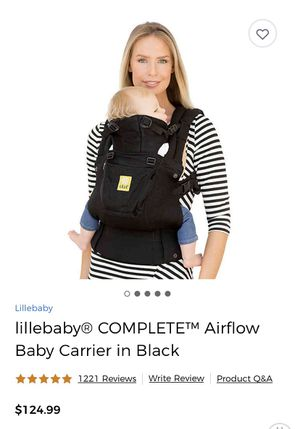 Lillebabu Complete Airflow Baby Carrier in Black for Sale in Corona, CA