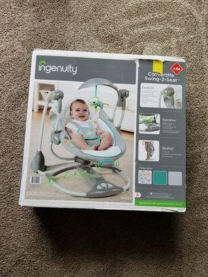 Ingenuity ConvertMe Swing-2-Seat Portable Swing - Ridgedale for Sale in Kent, WA
