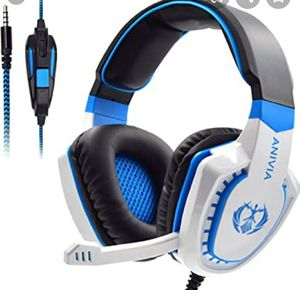 Anivia Gaming Headset (brand new) (blue & white) for Sale in Baltimore, MD