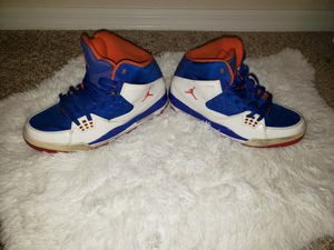 Used Size 12 Orange & Blue Jordans for Sale in Winter Haven, FL