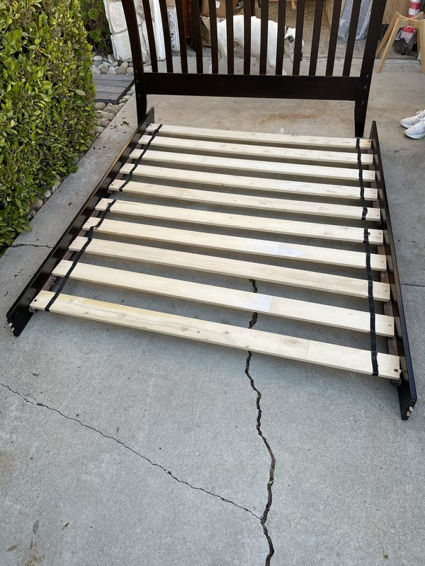 Very Comfortable Sealey Queen Size Bed, Box Spring and Frame W/ Headboard For Sale