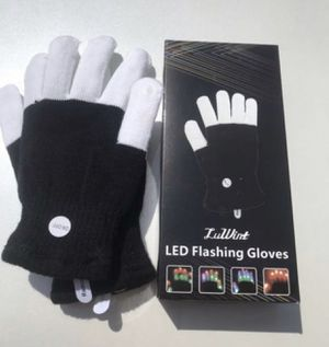 LED Glowing Gloves Finger Lights 3 Colors Flashing Party Xmas Dancing Dress D8F1 for Sale in Hacienda Heights, CA