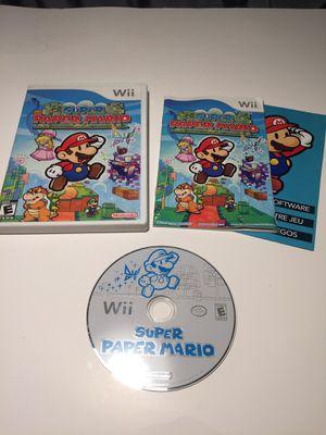 Super Paper Mario for the Nintendo Wii/ Wii U Compatible for Sale in Concord, CA