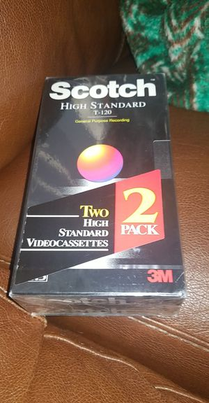 2 pack scotch high standard t 120 VHS tape for Sale in Richland, WA