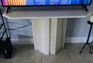 Stone console table/ TV stand for Sale in Fort Lauderdale, FL