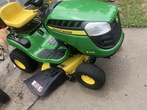 E100 John Crane riding lawnmower 2017 lawn mower for Sale in Lakeland, FL