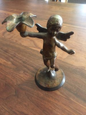 Metal Angel Statue/Candle Holder for Sale in Mission Viejo, CA