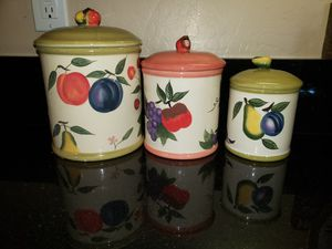3 Fruitful Bounty Kitchen Containers for Sale in Gilbert, AZ