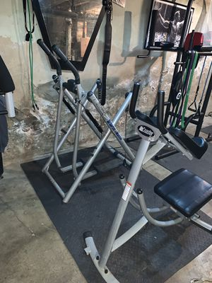 Exercise equipment ab machine and elliptical for Sale in Philadelphia, PA