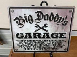 Big Daddy garage tin sign for Sale in Lakeland, FL