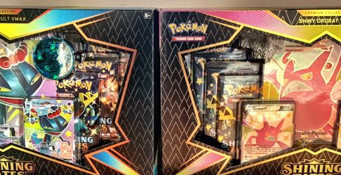 Pokemon Shining Fates Crobat & Dragapult VMax Premium Collection Box Factory Sealed for Sale in Bethpage,  NY
